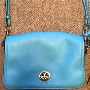 Coach blue purse #1371 75 I love to trade